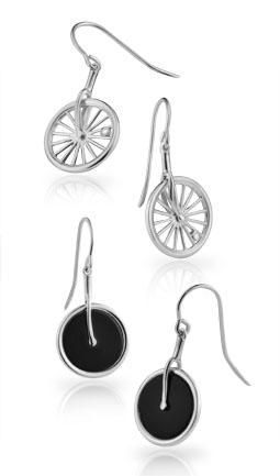 Front Wheel Earrings