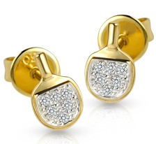 Diamond Table Tennis Bat Earrings