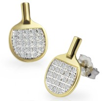 Bling Pong Earrings