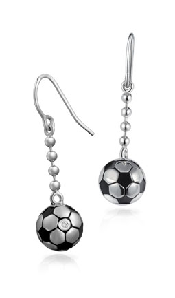 Free-Flowing Soccer Ball Earrings