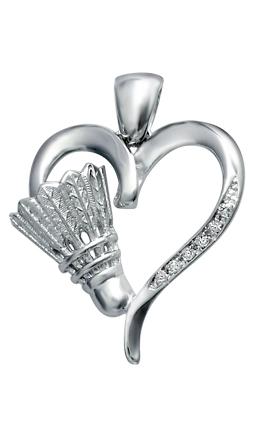 Heart of Badminton Pendant