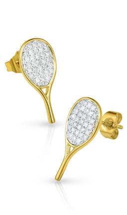 All-Star Tennis Racquet Earrings
