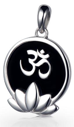 Om Lotus Flower Pendant