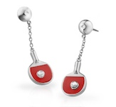 VQ Table Tennis Bat Earrings